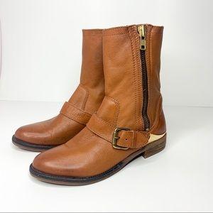 ALDO Genuine Leather Brown Moto boots 38